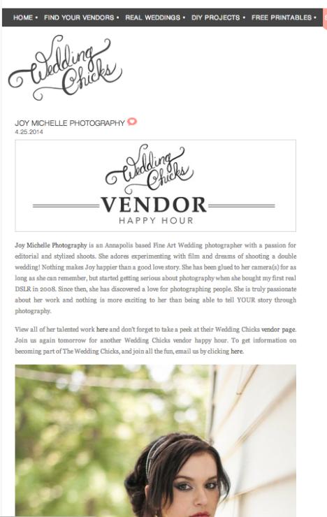Wedding Chicks Featured Photographer Joy Michelle Photography