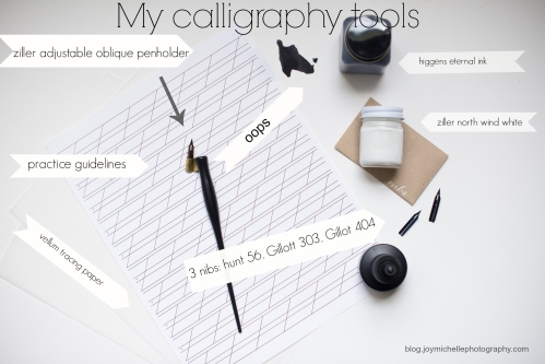 joy michelle photography starter calligraphy kit