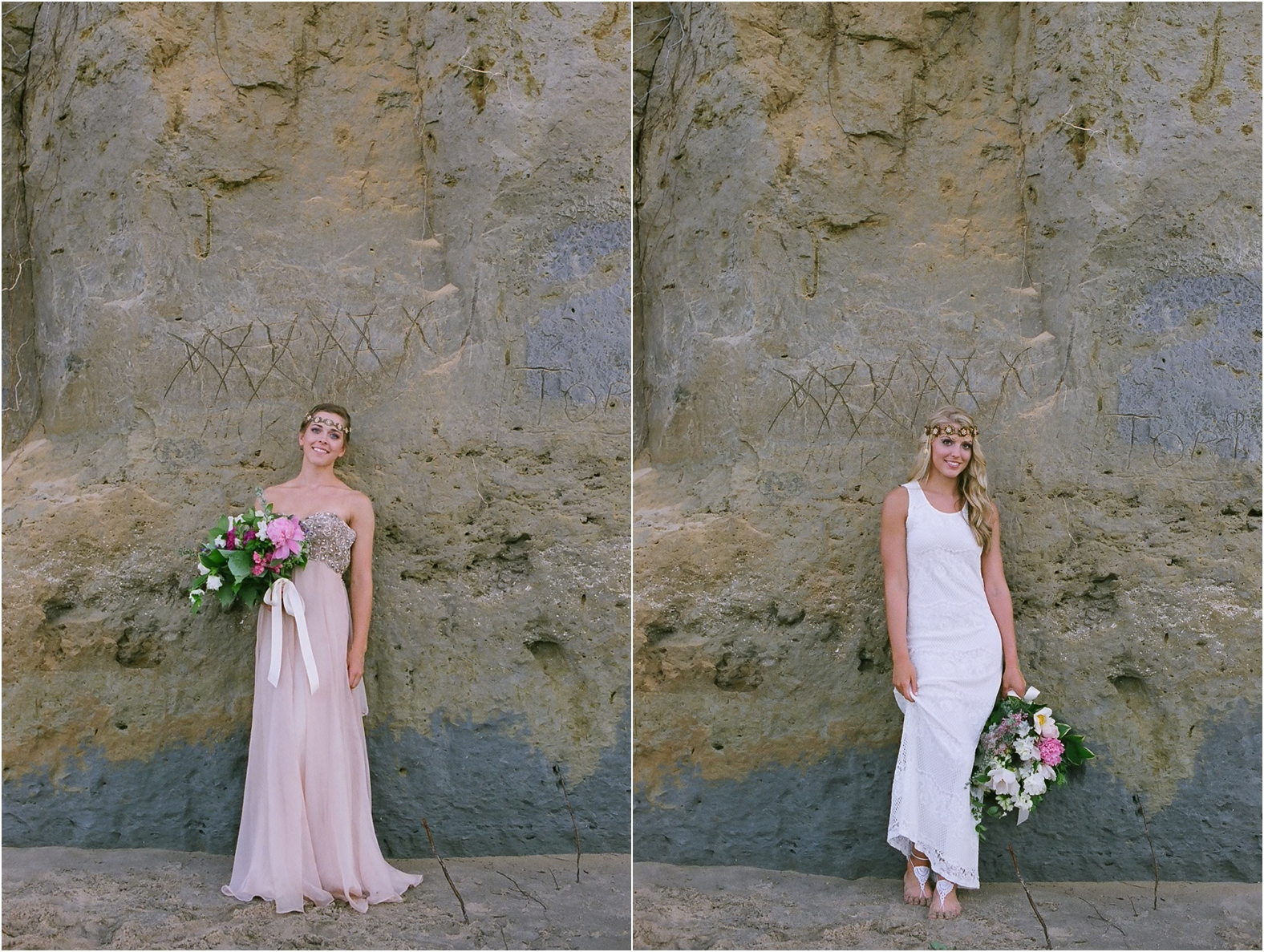 bohemian wedding styled shoot on film