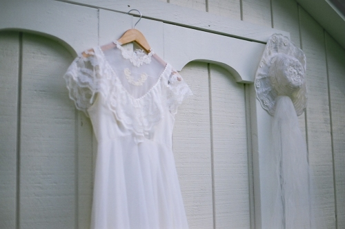 my moms vintage wedding gown