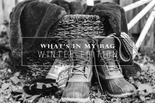 winter photo shoot - bean boots