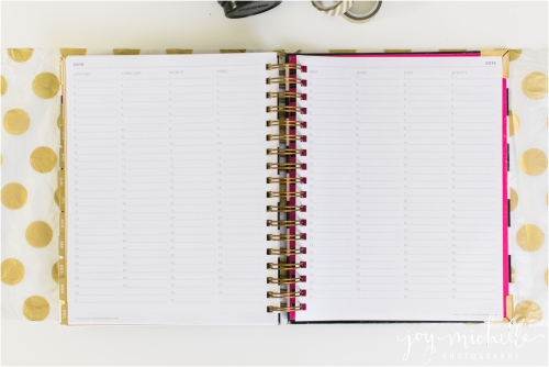 daily planner for business owners and photographers