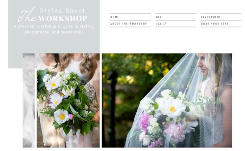 styled shoot workshop by Joy michelle photography