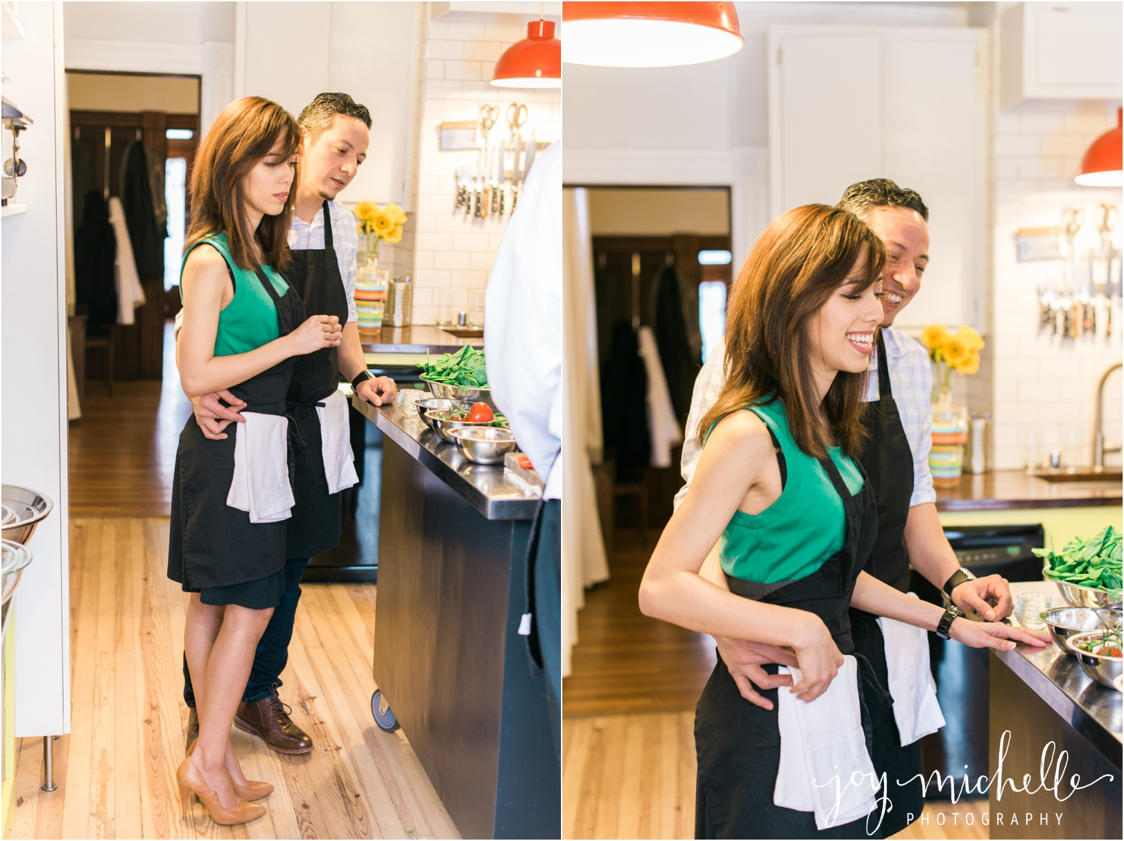 Cooking themed engagement session