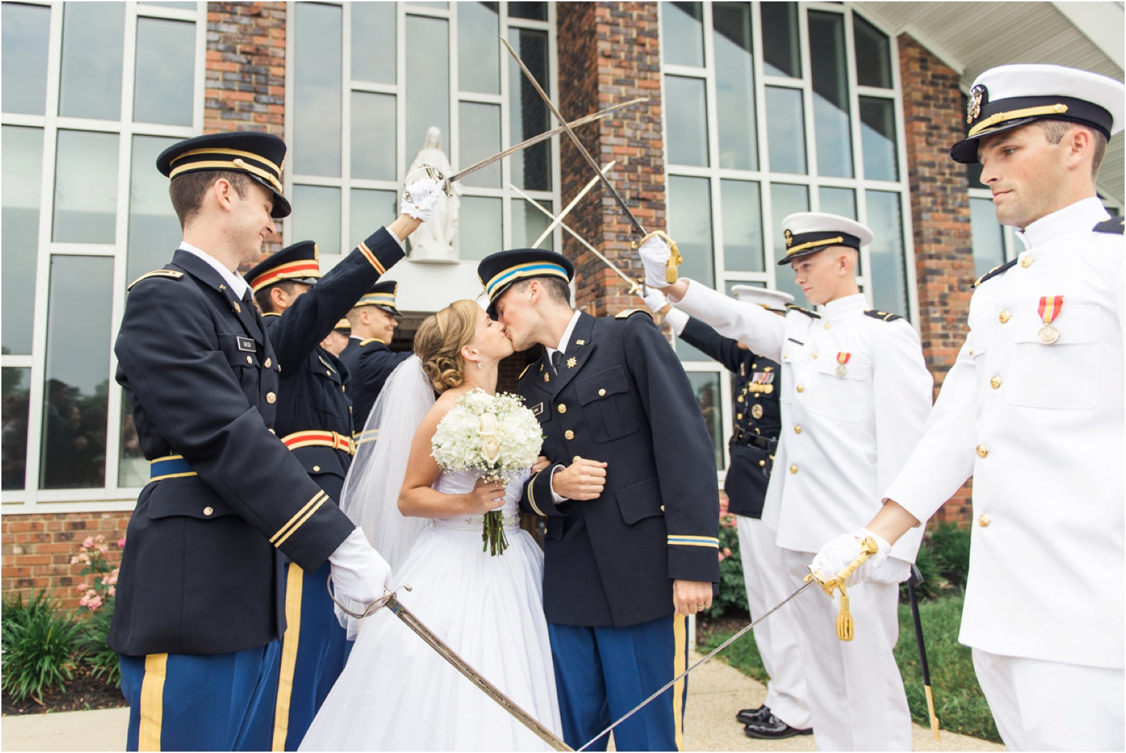 sword arch military wedding photographer