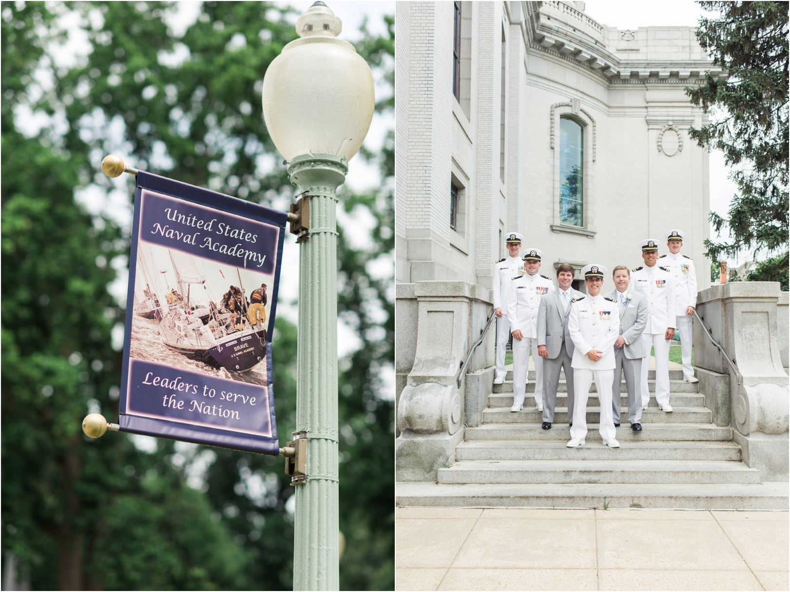 naval-academy-chapel-groomsmen-outside
